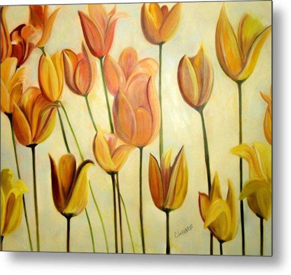 Spring Tulips Metal Print