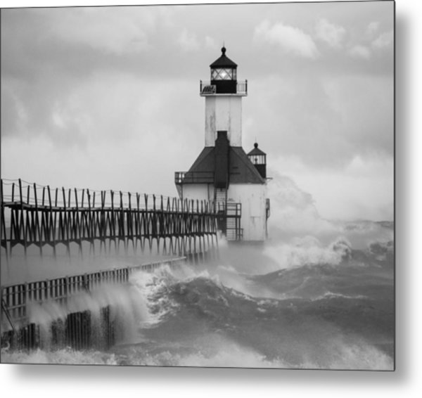 St. Joseph North Pier Lighthouse Metal Print