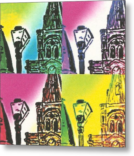 St. Louis Cathedral Pop  Metal Print by John Giardina
