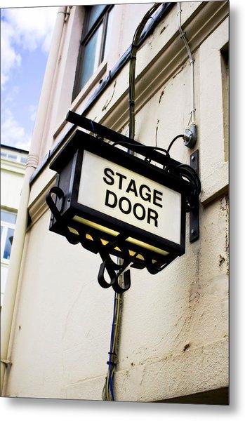 Stage Door Sign Metal Print