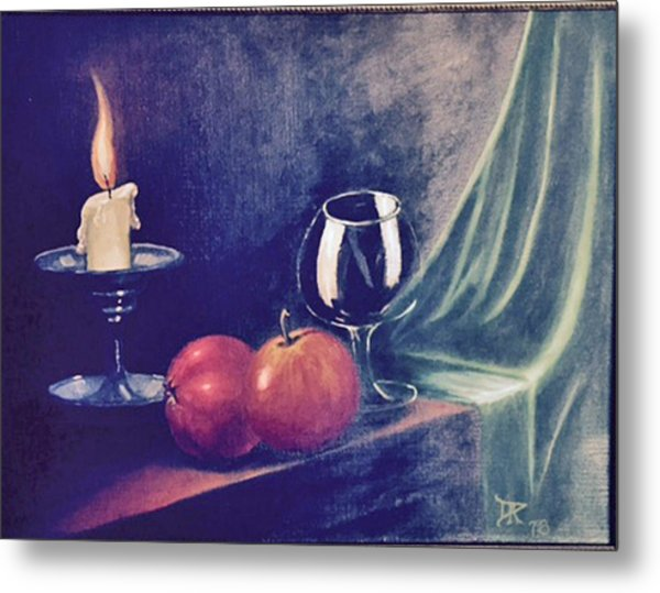Still Life With Candle Metal Print