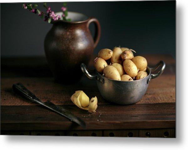 Still Life With Potatoes Metal Print