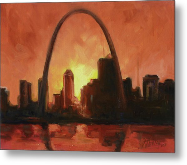 St.louis Downtown - Sunset Metal Print