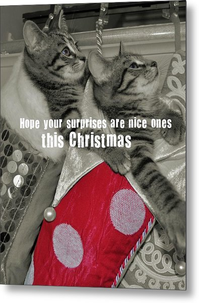 Stocking Stuffers Quote Metal Print by JAMART Photography
