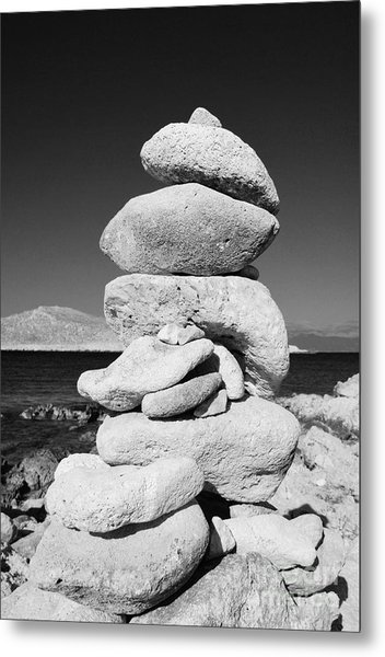 Stone Tower On Halki Island Metal Print