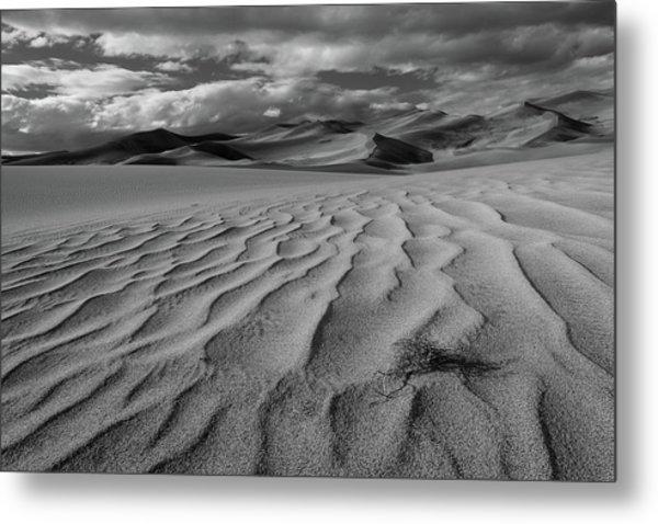 Storm Over Sand Dunes Metal Print