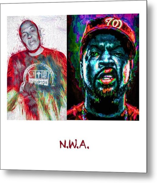 Straight Outta Canvas Dr Dre #drdre Metal Print