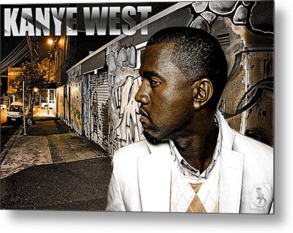 Street Phenomenon Kanye West Metal Print