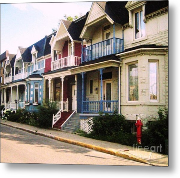 Streets Of Montreal Metal Print by Reb Frost