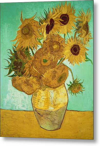 Sunflowers By Van Gogh Metal Print