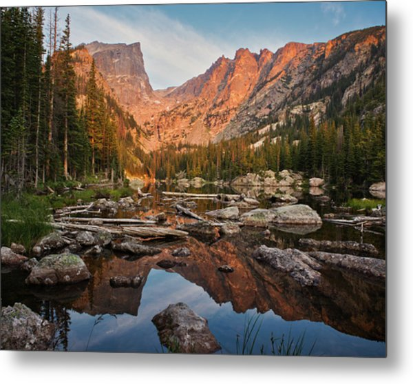 Dream Lake Sunrise Metal Print