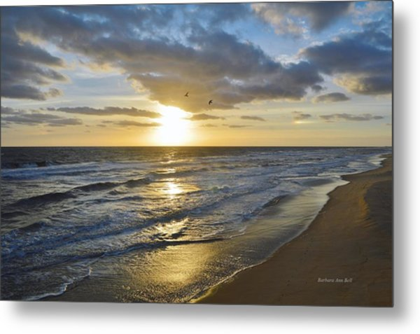 Sunrise On The Banks  Metal Print