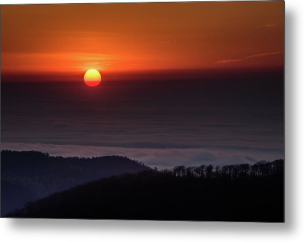 Sunrise Through The Clouds Metal Print