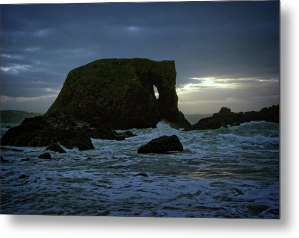 Sunset At Elephant Rock Metal Print