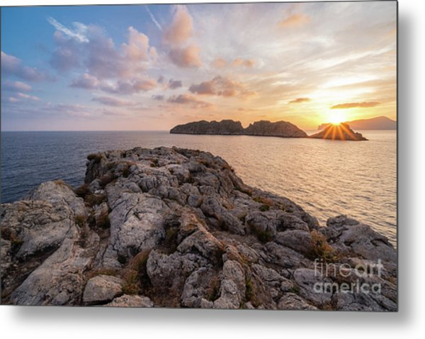 Sunset Malgrats Islands Metal Print