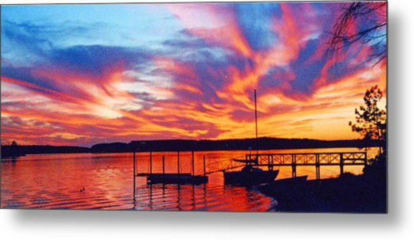 Sunset Over Lake Murray Metal Print