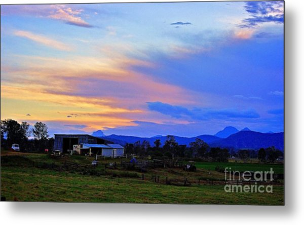Sunset Over The Great Divide Metal Print
