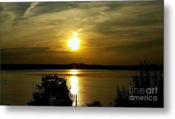 Sunset Over The Potomac Metal Print