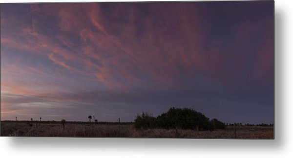 Sunset Over The Wetlands Metal Print