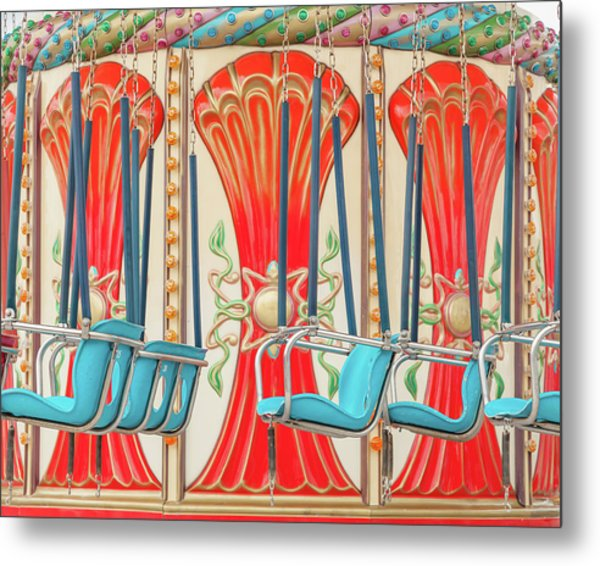 Swings Ride In Detail Metal Print by Erin Cadigan