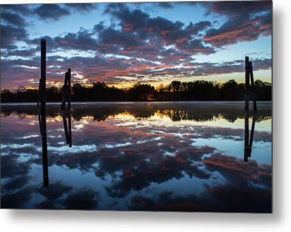 Symetry On The River Metal Print