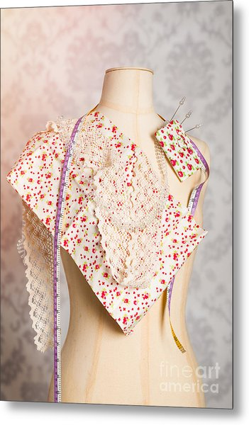 Tailors Dummy With Colour Swatches Metal Print