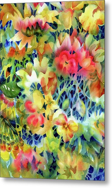 Tangled Blooms Metal Print