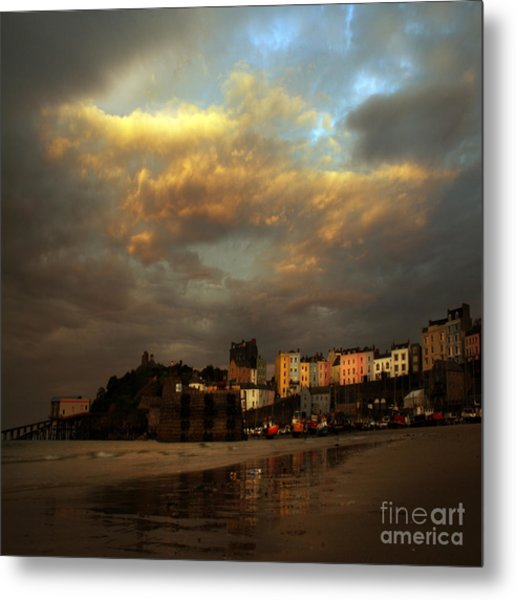 Tenby Metal Print by Angel Ciesniarska