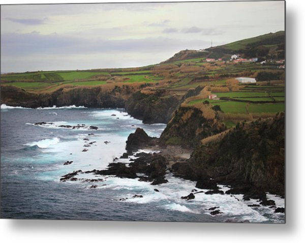 Terceira Coastline Metal Print