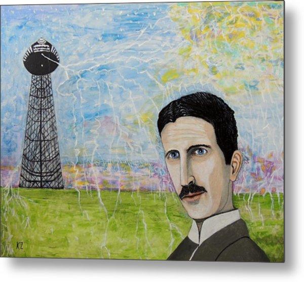 Tesla's Tower. Metal Print