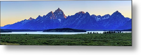 Teton Sunset Metal Print