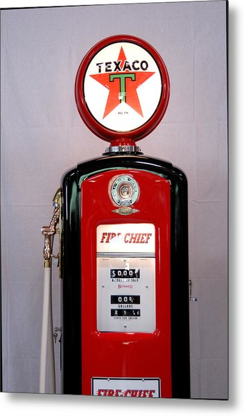 Texaco Gas Pump Metal Print by David Campione
