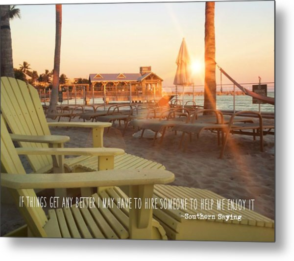 That Morning Light Quote Metal Print by JAMART Photography