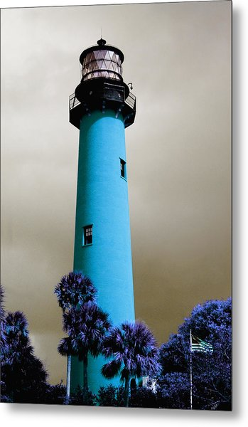 The Blue Lighthouse Metal Print