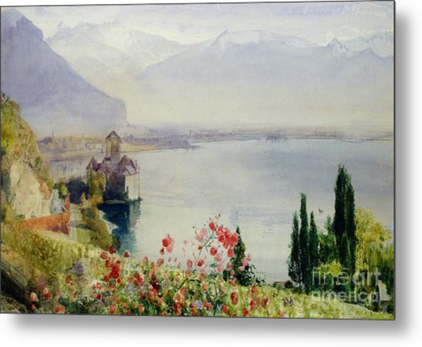The Castle At Chillon Metal Print