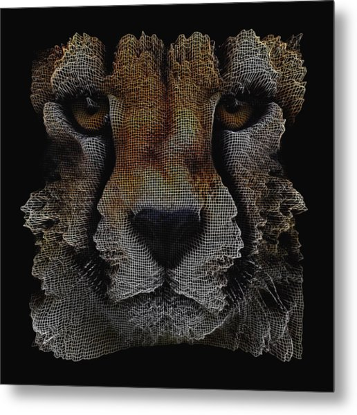 The Face Of A Cheetah Metal Print