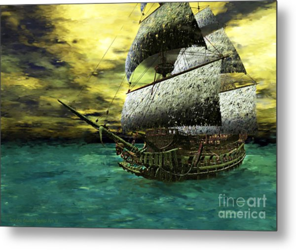 The Flying Dutchman Metal Print by Sandra Bauser Digital Art