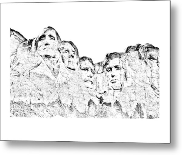 The Four Presidents Metal Print
