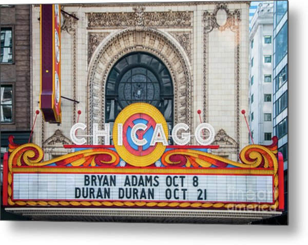 The Iconic Chicago Theater Sign Metal Print