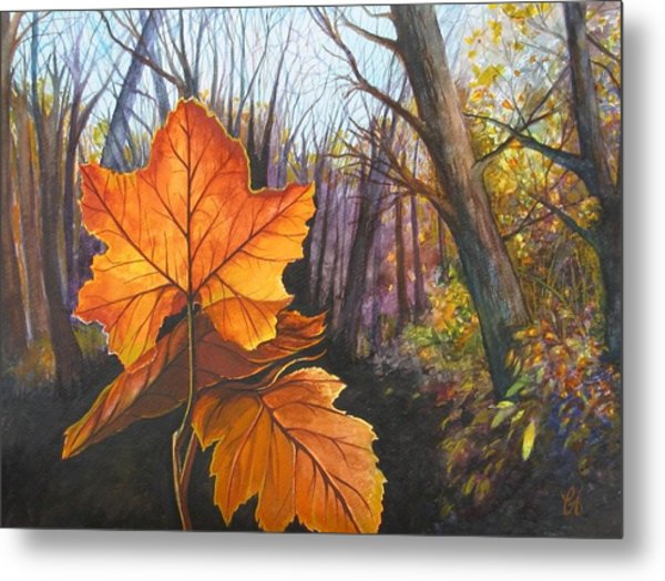 The Last Of Autumn Metal Print by Carrie Auwaerter