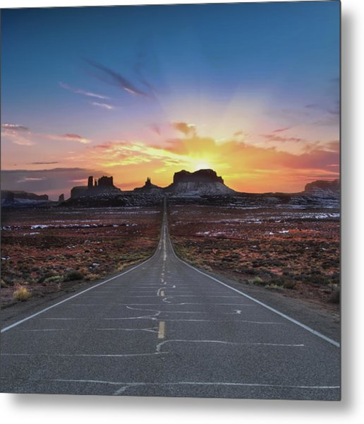 The Long Road To Monument Valley Metal Print