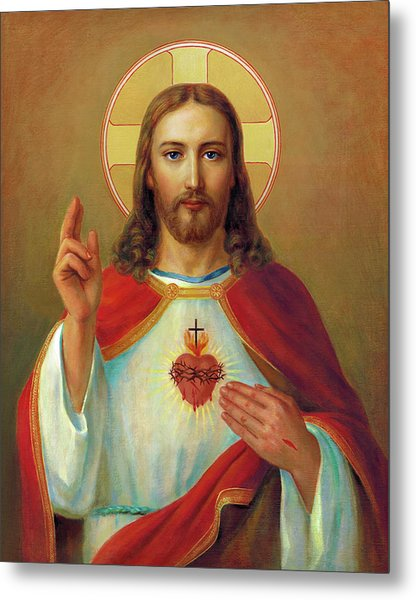 The Most Sacred Heart Of Jesus  Metal Print by Svitozar Nenyuk