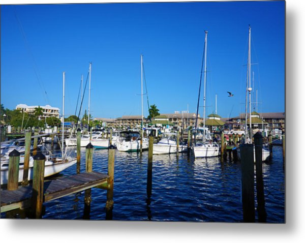 The Naples City Dock Metal Print