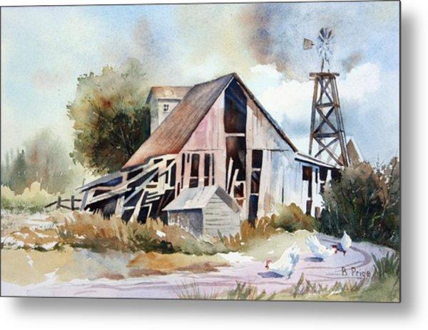 The Old Barn Metal Print by Bobbi Price