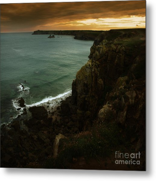 The Pembrokeshire Cliffs Metal Print by Angel Ciesniarska