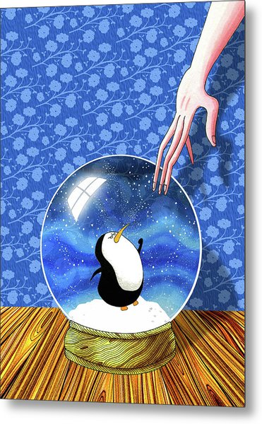 The Penguin Who Didn't Like Snow  Metal Print