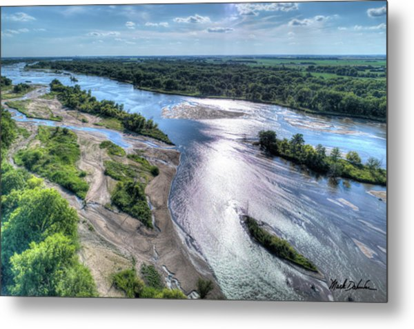 The Platte River Metal Print
