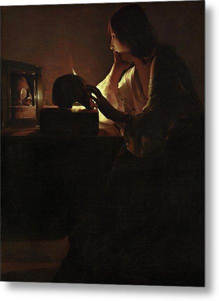 The Repentant Magdalen Metal Print