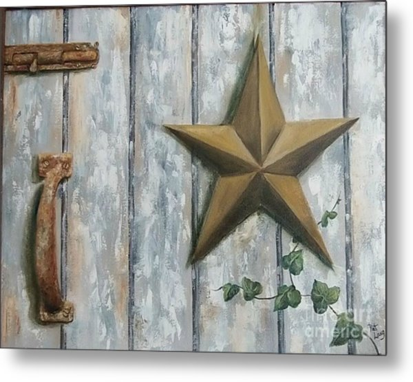 The Rusty Latch Metal Print by Patricia Lang