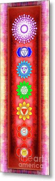 The Seven Chakras - Series 6 Artwork 3 Metal Print